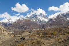 Jharkot by i den Annapurna regionen, Nepal arkivbild