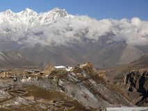 Jharkot monastery, Mustang Valley, Nepal Stock Photos