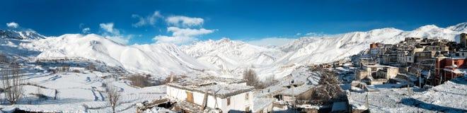 Jharkotdorp, Mustang, Nepal, Drie urenaandrijving van jomsom Stock Fotografie