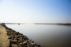 Jhelum River. Photo of Jhelum River taken near Khushab Bridge, Punjab, Pakistan. Jehlam River or Jhelum River is a river that flows in the Indian and Pakistani royalty free stock images