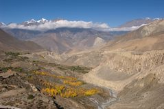 Jhong Khola valley Stock Photos