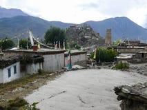 Jhong village, Muktinath valley, Nepal Stock Images