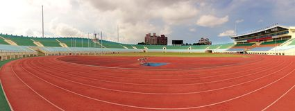 The Jhonh Jheng Stadium in Kaohsiung Stock Image
