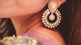 Jhumka - indischer Mode-Schmuck stockbilder