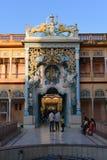 Jhunjhunu, Ragiastan, India: 3 ottobre 2015: Il tempio indiano di Sati Dio della divinità nel Ragiastan Sati è un'abitudine funer fotografia stock