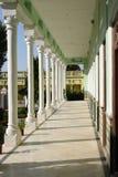 Jhunjhunu, Rajasthan, Indien: Am 3. Oktober 2015: Fragment ausgezeichneten Piramal-Erbes Neemrana Haveli stockbild