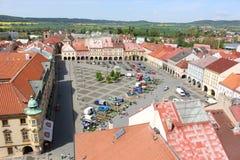 Jičín square. In the heart of the Bohemian Paradise stock image