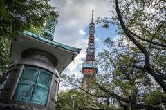 ji świątynny Tokyo zoji fotografia royalty free