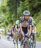 Ji Cheng auf Col. du Tourmalet - Tour de France 2014 Stockbilder