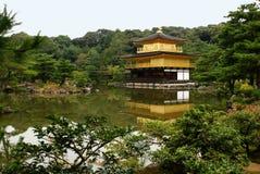 ji kinkaku寺庙 免版税图库摄影