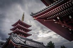 ji senso寺庙东京 免版税图库摄影