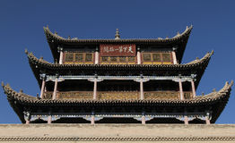 Jia yu guan. An ancient chinese fortress,built in the 1372 a.d stock photo