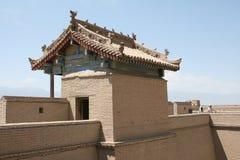 Jia Yu Guan forntida kinesisk stor väggfort Arkivbilder