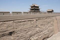 Jia Yu Guan forntida kinesisk stor väggfort Fotografering för Bildbyråer
