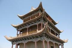 Jia Yu Guan Fort, den forntida stora väggen Kina Royaltyfri Bild