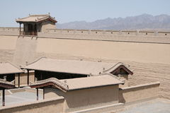Jia Yu Guan Western Great vägg, siden- väg Kina Royaltyfri Bild