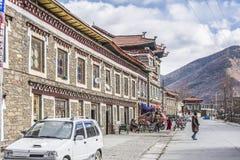 Jiagenba村庄街道视图 免版税库存照片