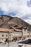 Jiagenba村庄街道视图 免版税库存图片