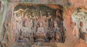 Jiajiang mil penhascos da Buda em sichuan, porcelana Fotografia de Stock