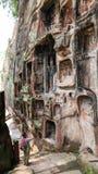 Jiajiang mille scogliere di Buddha in Sichuan, porcellana Immagine Stock Libera da Diritti