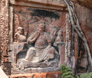 Jiajiang mille scogliere di Buddha in Sichuan, porcellana Immagini Stock