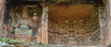 Jiajiang mille scogliere di Buddha in Sichuan, porcellana Fotografia Stock Libera da Diritti