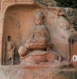 Jiajiang thousand Buddha cliff in sichuan,china Royalty Free Stock Photos