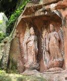 Jiajiang thousand Buddha cliff in sichuan,china Royalty Free Stock Image