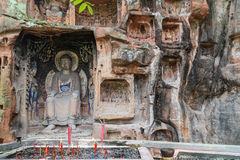 Jiajiang thousand Buddha cliff in sichuan,china Royalty Free Stock Photo