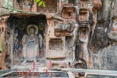 Jiajiang thousand Buddha cliff in sichuan,china Royalty Free Stock Photo