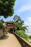 Jiajiang thousand Buddha cliff in sichuan,china Stock Photo