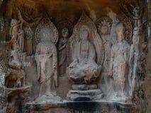 Jiajiang thousand Buddha cliff in sichuan,china Stock Image