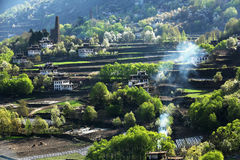 Jiaju Tibetaans dorp van Sichuan van China Stock Foto's
