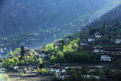 Jiaju Tibetan village of sichuan of China Stock Photo