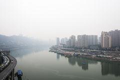 Jialiang river view Royalty Free Stock Images