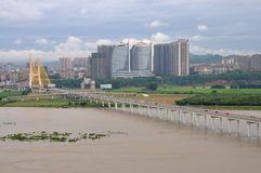 The Jialing River in Nanchong,China Royalty Free Stock Photo