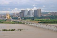 The Jialing River in Nanchong,China Royalty Free Stock Photo