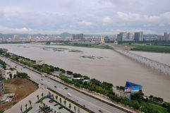 The Jialing River in Nanchong,China Stock Photos