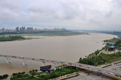 The Jialing River in Nanchong,China Royalty Free Stock Photos