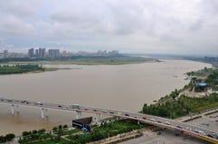 The Jialing River in Nanchong,China Royalty Free Stock Photos