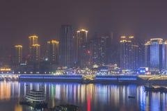 The jialing river at night Royalty Free Stock Photo