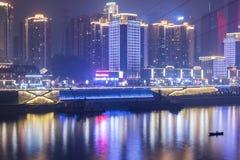 The jialing river at night Royalty Free Stock Photos