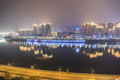 The jialing river at night Stock Image