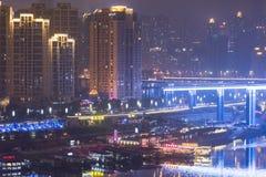 The jialing river at night Stock Photos