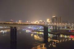 The jialing river at night Royalty Free Stock Image