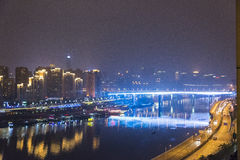 The jialing river at night Royalty Free Stock Photography