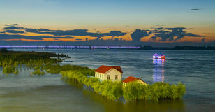 Jiamusi City, Heilongjiang Province, Songhua River Bund Stock Images