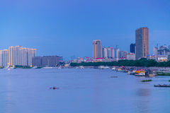 Jiamusi City, Heilongjiang Province, Songhua River Bund Stock Photo