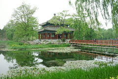 Jianbiting (jianbi pavilion) in Yuanmingyuan park Royalty Free Stock Photos
