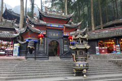 Jianfu palace in Qingcheng mountain Royalty Free Stock Image